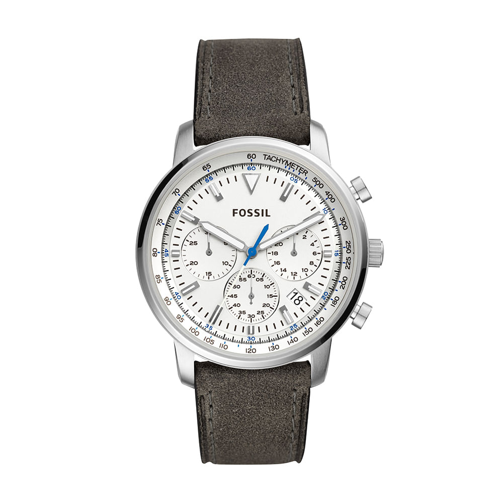8ecdacd8e9f57 Relógio Fossil Masculino Goodwin Chrono Prata - Camisaria Colombo