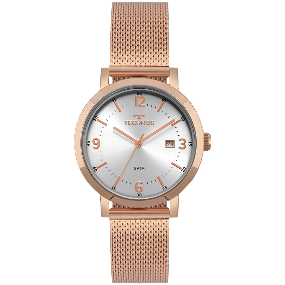 Relógio Technos Feminino Dress Rosé - Camisaria Colombo 080e5e7fbf