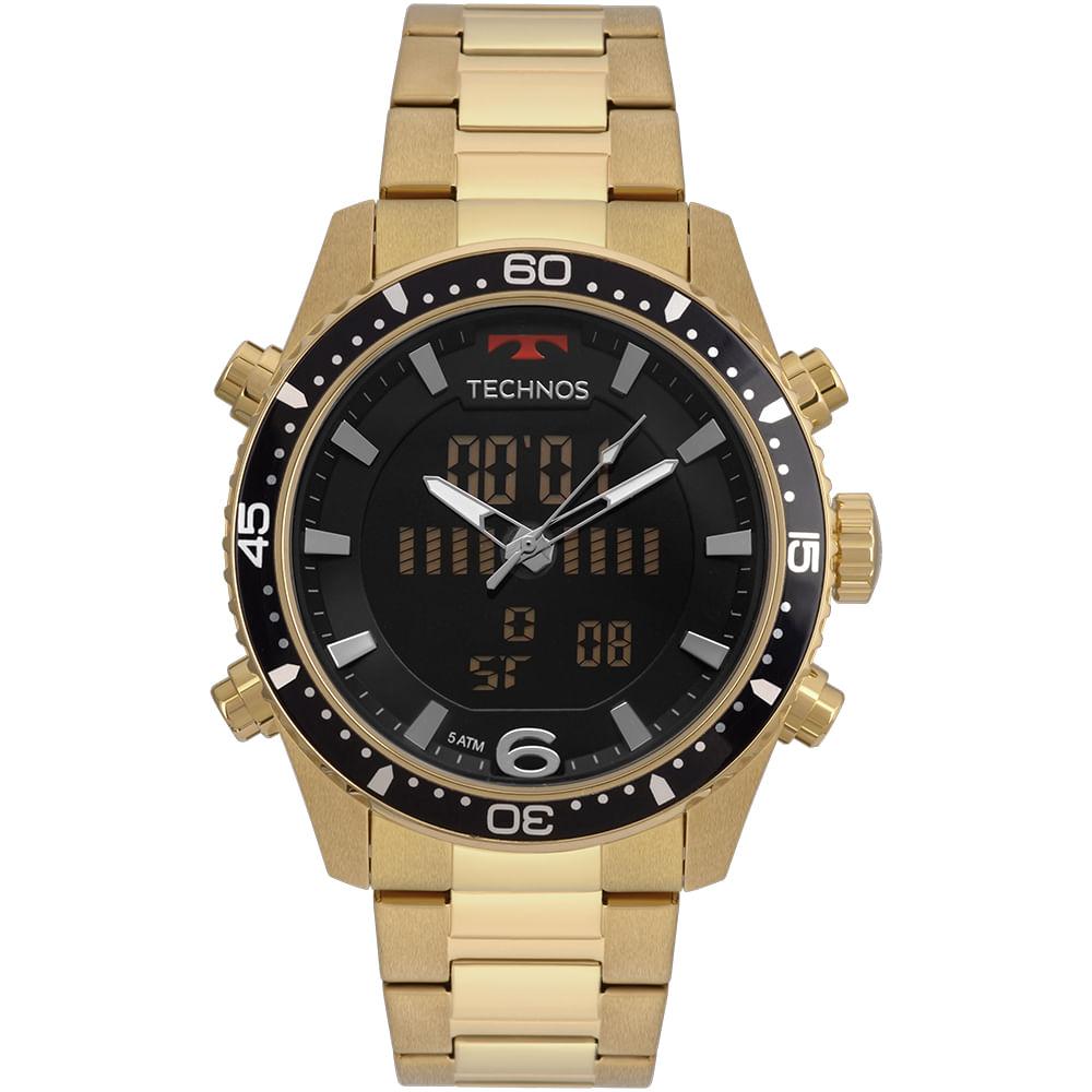 Relógio Technos Masculino Ts Digiana Dourado - Camisaria Colombo 6e25f7e1ce