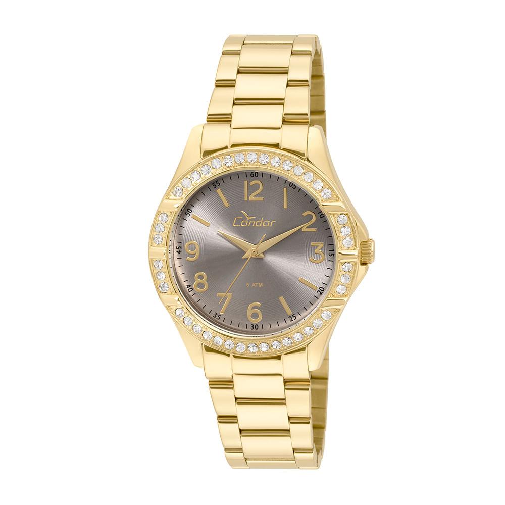 642f9f1a66b Relógio Condor Feminino Braceletes CO2035KUS 4C - Dourado ...