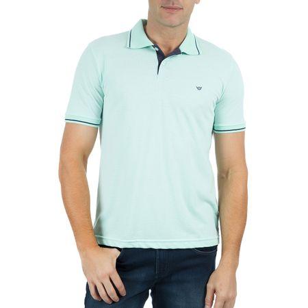 Camisa Polo Masculina Verde Detalhada