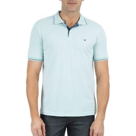 Camisa Polo Masculina Com Detalhe Azul
