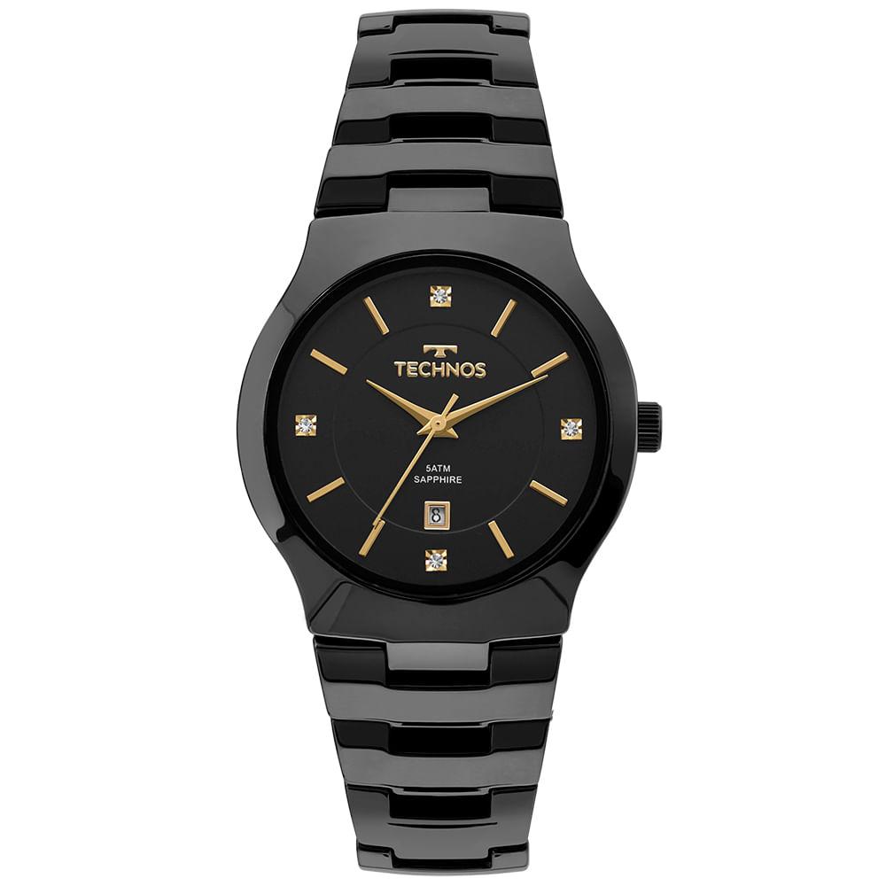 Relógio Technos Feminino Ceramic Preto - GN10AU 4P - Camisaria Colombo 1908d02299