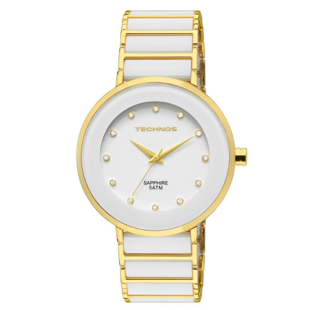Relógio Technos Ceramic Saphire Feminino Analógico - 2035LMM 4B ... 08f31d14fd