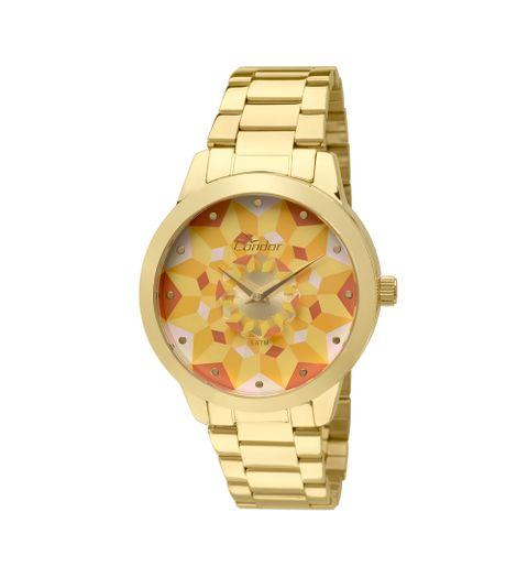 1c732f10ec Relógio Condor Feminino Caleidoscópio CO2036KOE 4Y - Dourado