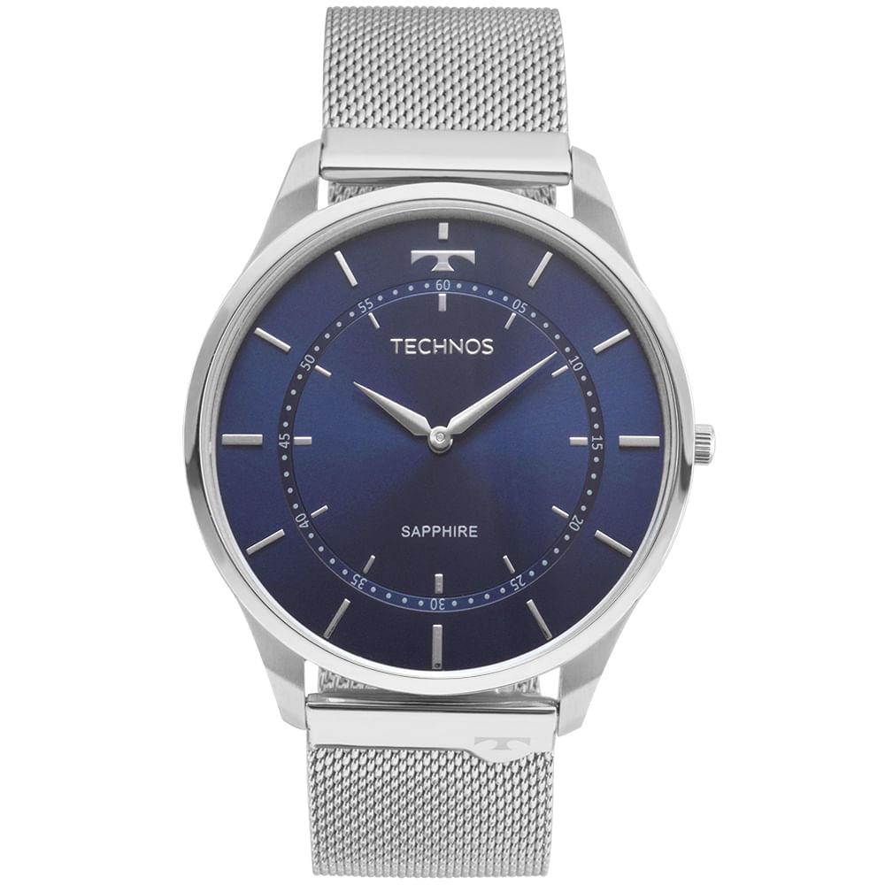 Relógio Technos Unissex Classic Slim Prata - 9T22AI 1A - Camisaria ... b8e64f7db7