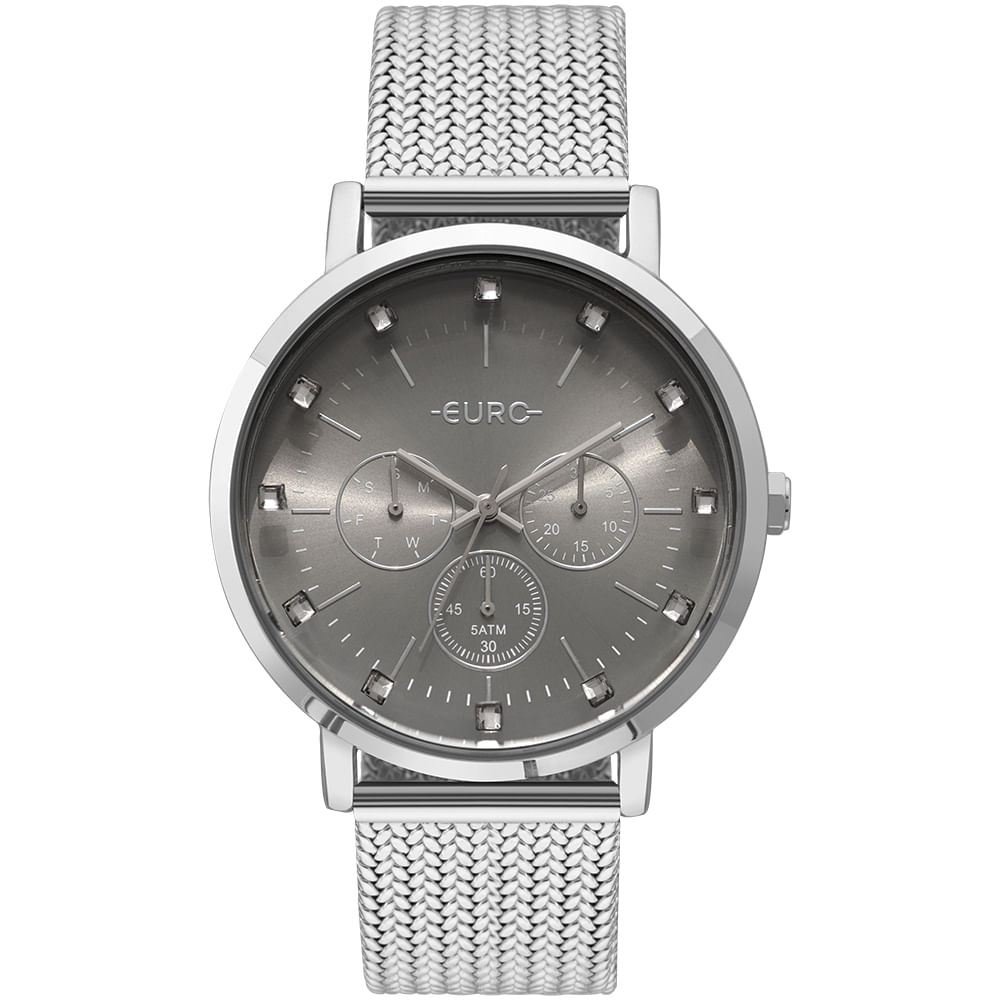 Relógio Euro Feminino Spike Illusion Prata - EUVD75AB 3K - Camisaria ... af36806f80