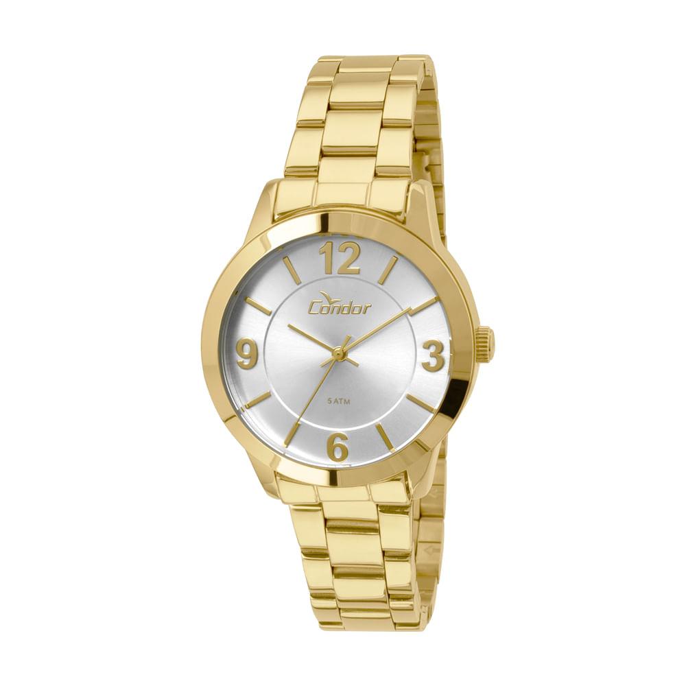 5d32b84f97c Relógio Condor Feminino Braceletes CO2035KOO 4K - Dourado ...