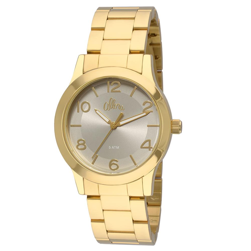 8aa7f086e14 Relógio Allora Feminino Acetinados AL2035FEA 4C - Dourado ...