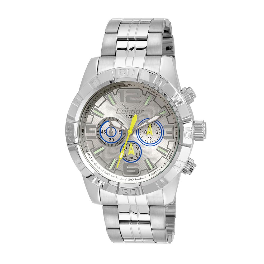 a544bacc5cf Relógio Condor Masculino Civic COVD54AQ 3K - Prata - Camisaria Colombo