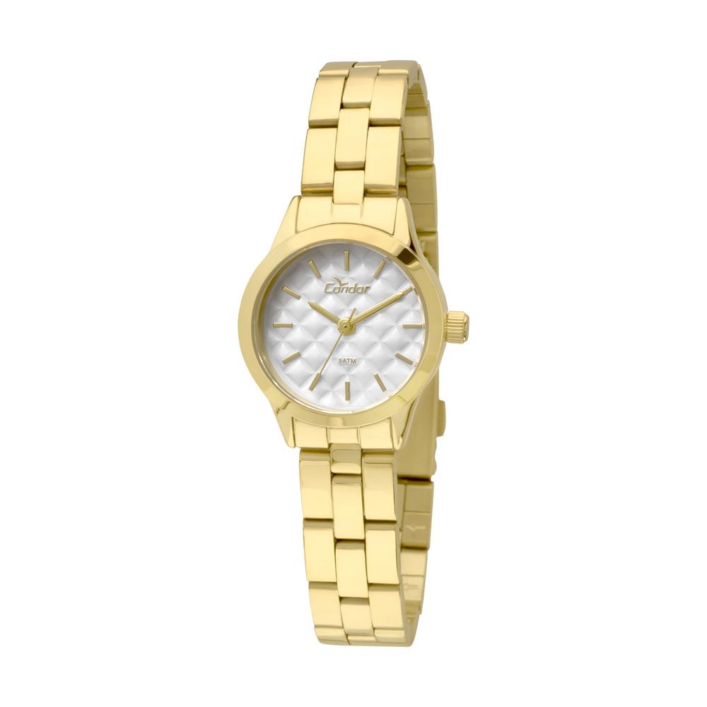396a3a21747 Relógio Condor Feminino Mini CO2036KNY 4B - Dourado - Camisaria Colombo