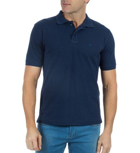 Camisa-Polo-Masculina-Lisa-Azul-