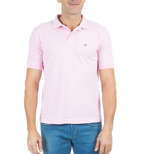 Camisa-Polo-Masculina-Lisa-Rosa-