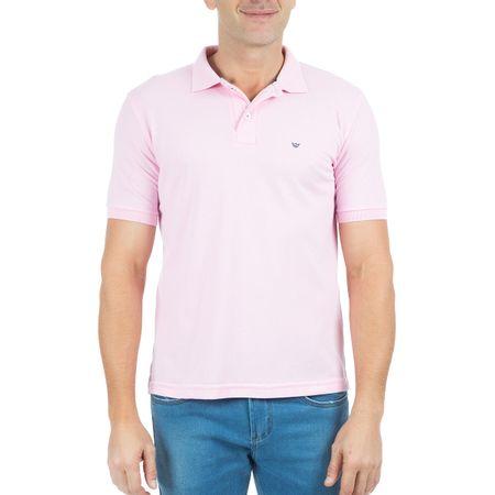 Camisa Polo Masculina Lisa Rosa