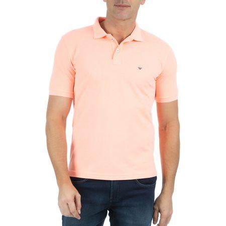 Camisa Polo Masculina Laranja Lisa