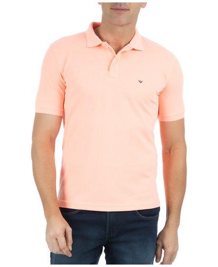 Camisa-Polo-Masculina-Lisa-Laranja-Claro-