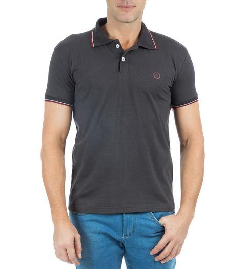 Camisa-Polo-Masculina-Estampada-Grafite-