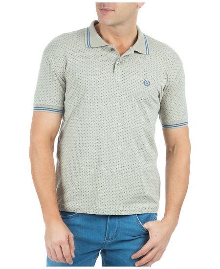 Camisa-Polo-Masculina-Estampada-Cinza-