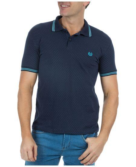 Camisa-Polo-Masculina-Estampada-Azul-