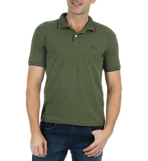 Camisa-Polo-Masculina-Estampada-Verde-