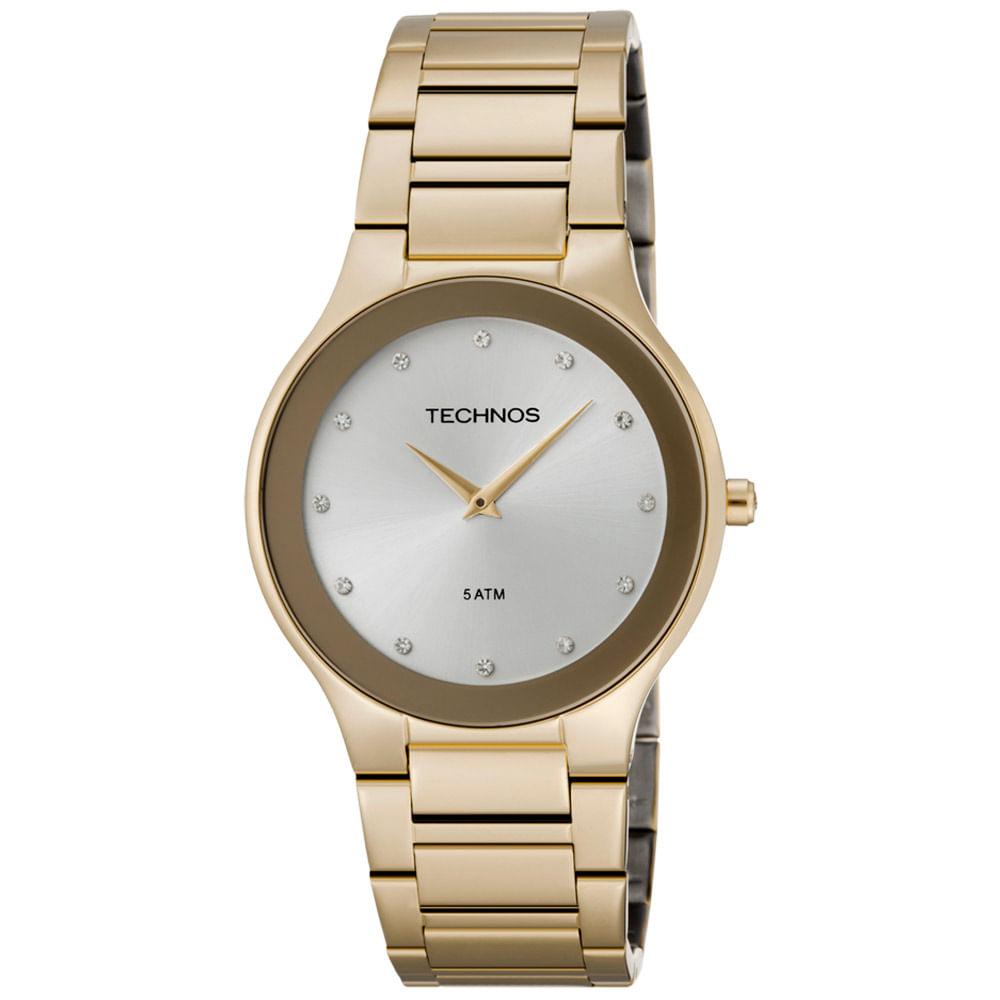 Relógio Technos Feminino Dourado - 1L22EN 4K - Camisaria Colombo 664cdfc527