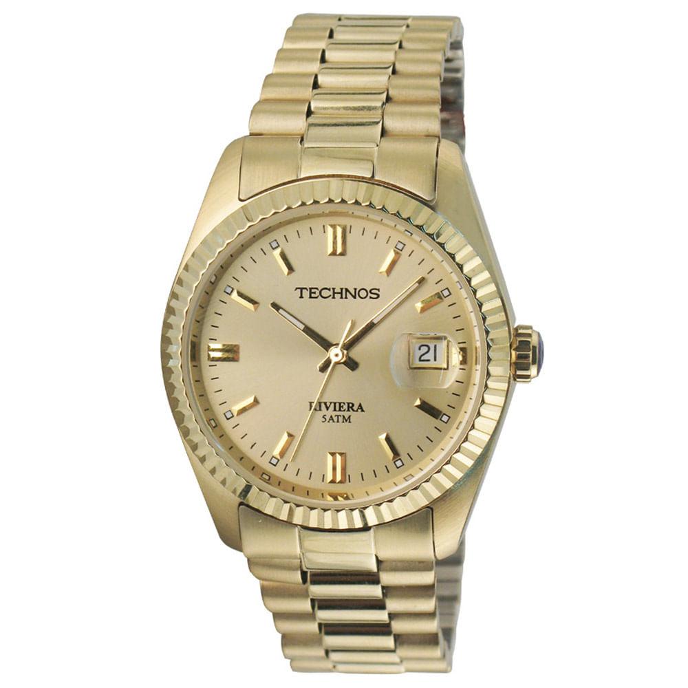 Relógio Technos Riviera Masculino Analógico - 2115EF 4X - Camisaria ... 91c34d5c5f