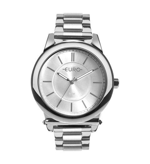 PRODUTO ADICIONADO A SACOLA. Relógio Euro Feminino Metal Trendy Prata ... 3fa42b4ad2