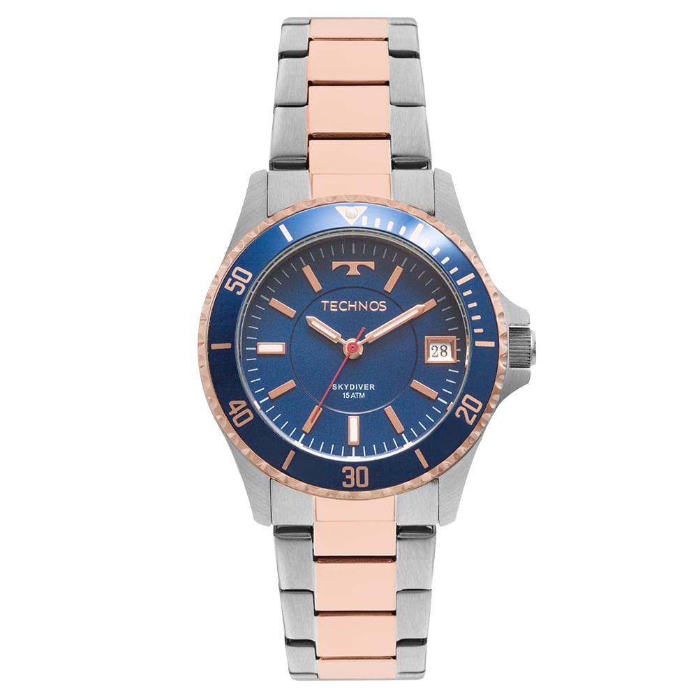 Relógio Technos Skydiver Feminino 2115MMM 5A - Camisaria Colombo 122b855c1d