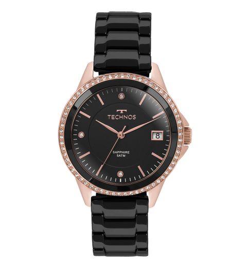 Relógio Technos Feminino Elegance Ceramic Saphire Rosé - 2315KZR 4P 5051137843