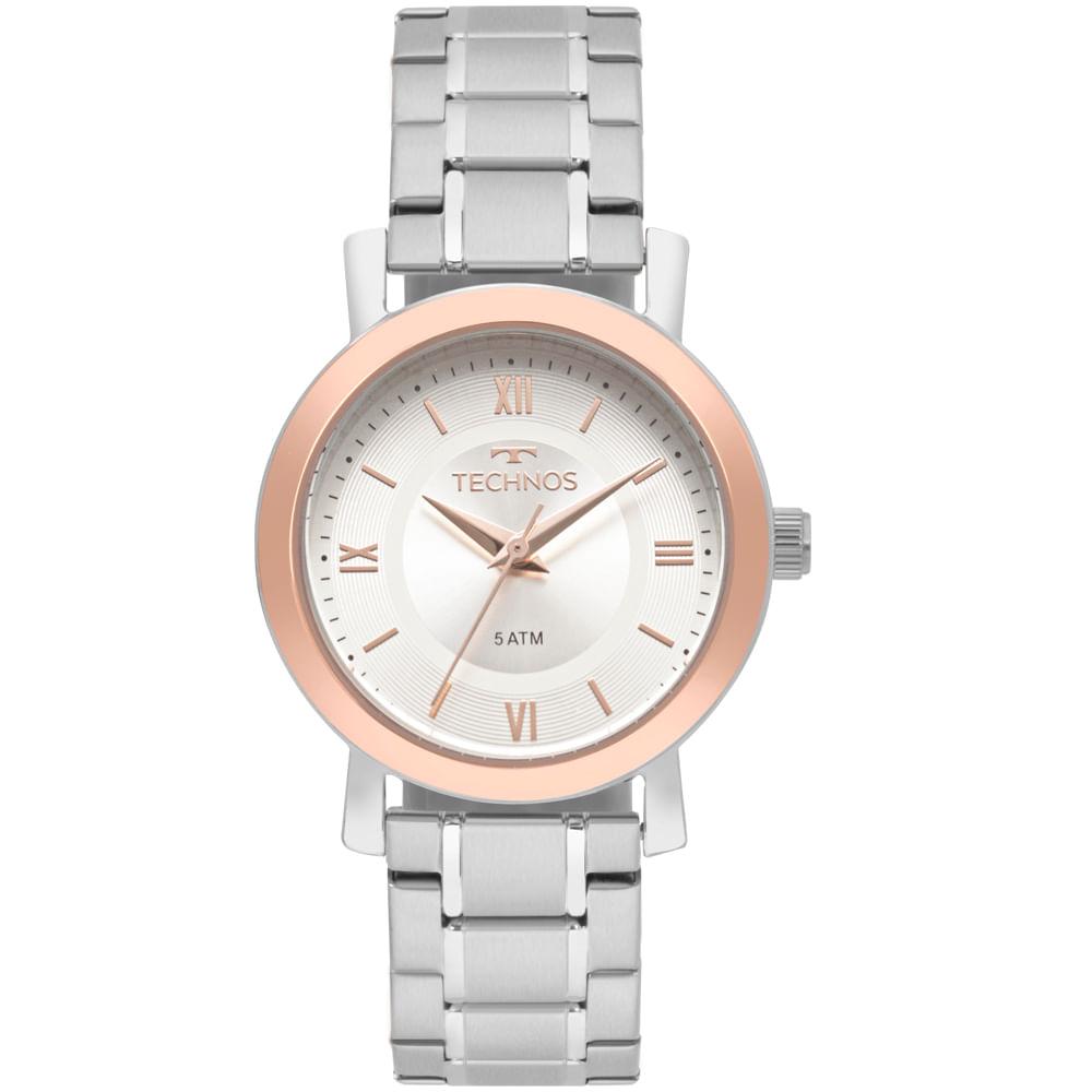 Relógio Technos Feminino Boutique Prata - 2035MMR 5K - Camisaria Colombo a43d5dcead