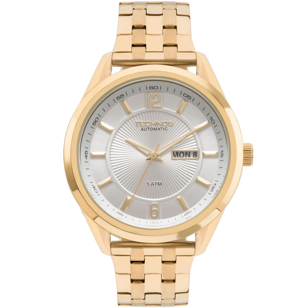 Relógio Technos Masculino Classic Automatico Dourado - 8205NL 4K ... 7f30450e0f