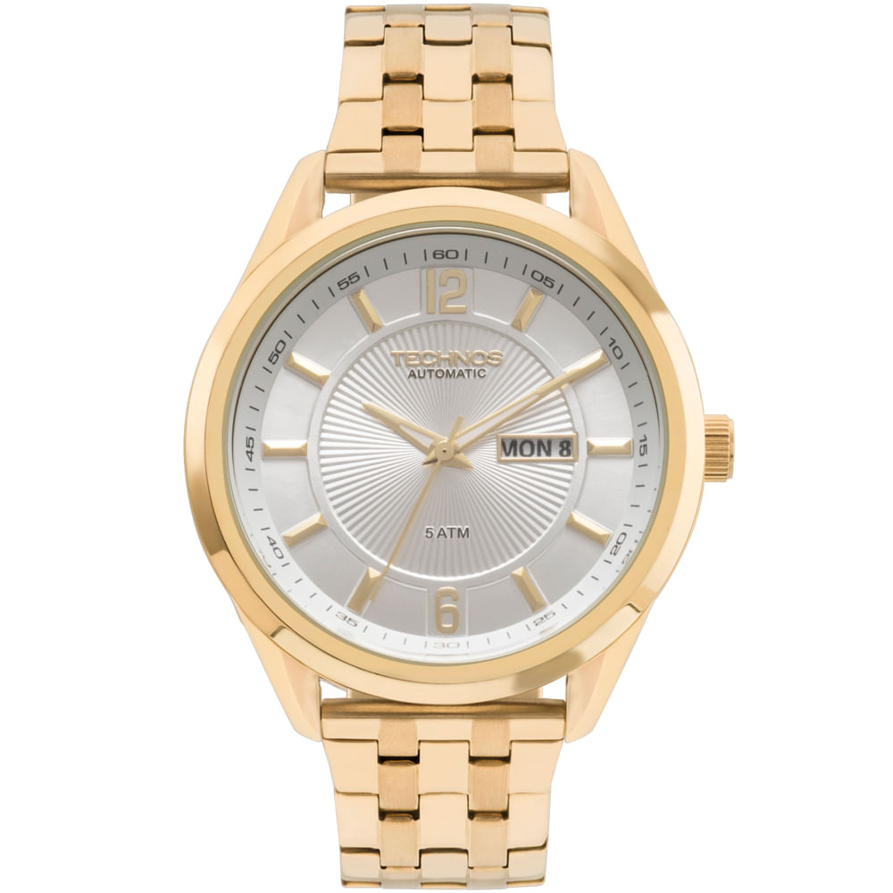 Relógio Technos Masculino Classic Automatico Dourado - 8205NL 4K ... e296ad1a7c