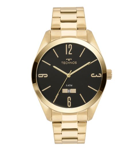 Relógio Technos Masculino Classic Steel Dourado - 2115MNW 4P 3398e94c86