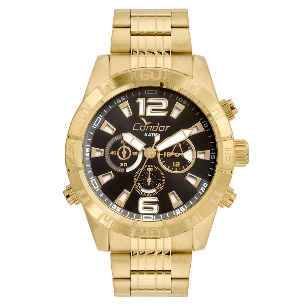 a69cfd5eaf9ec Relógio Condor Masculino Civic Dourado COVD54AW 4P - Camisaria Colombo