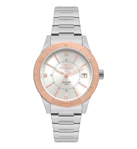 Relógio Technos Feminino Skydiver Bicolor 2115MOY 5K - Camisaria Colombo d3467e7748