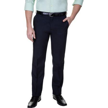 Calça Social Masculina Lisa Tradicional Azul Marinho