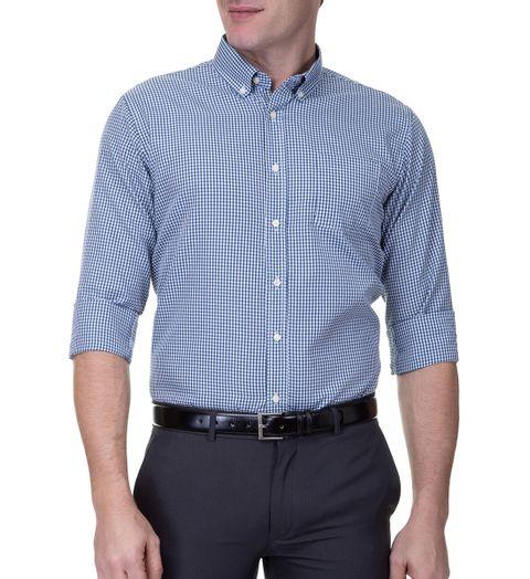 Camisa-Social-Masculina-Manga-Longa-Azul-Marinho-