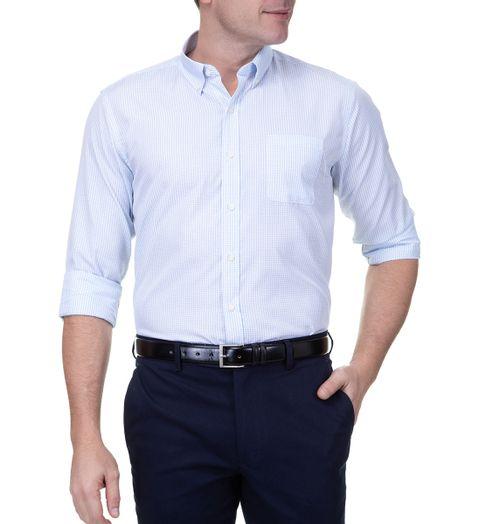 Camisa-Social-Masculina-Manga-Longa-Azul-Claro-