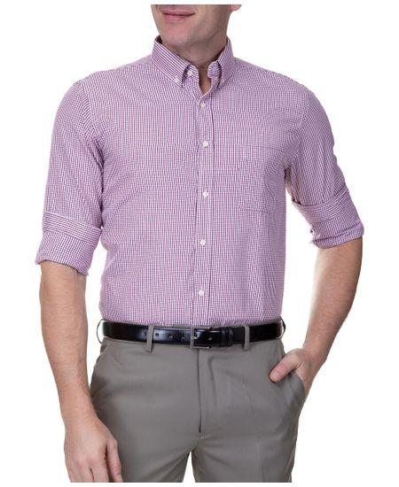 Camisa-Social-Masculina-Manga-Longa-Vinho-