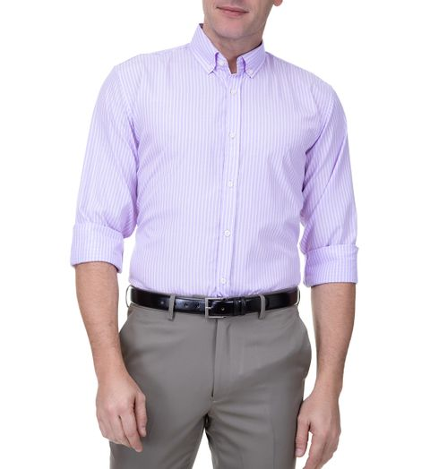 Camisa-Social-Masculina-Manga-Longa-Lilas-