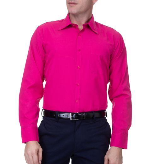 a815e9de90 Camisa Social Masculina Rosa Lisa