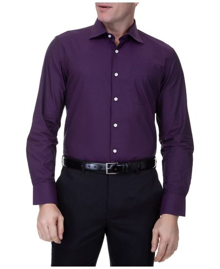 Camisa-Masculina-Manga-Longa-Roxa-