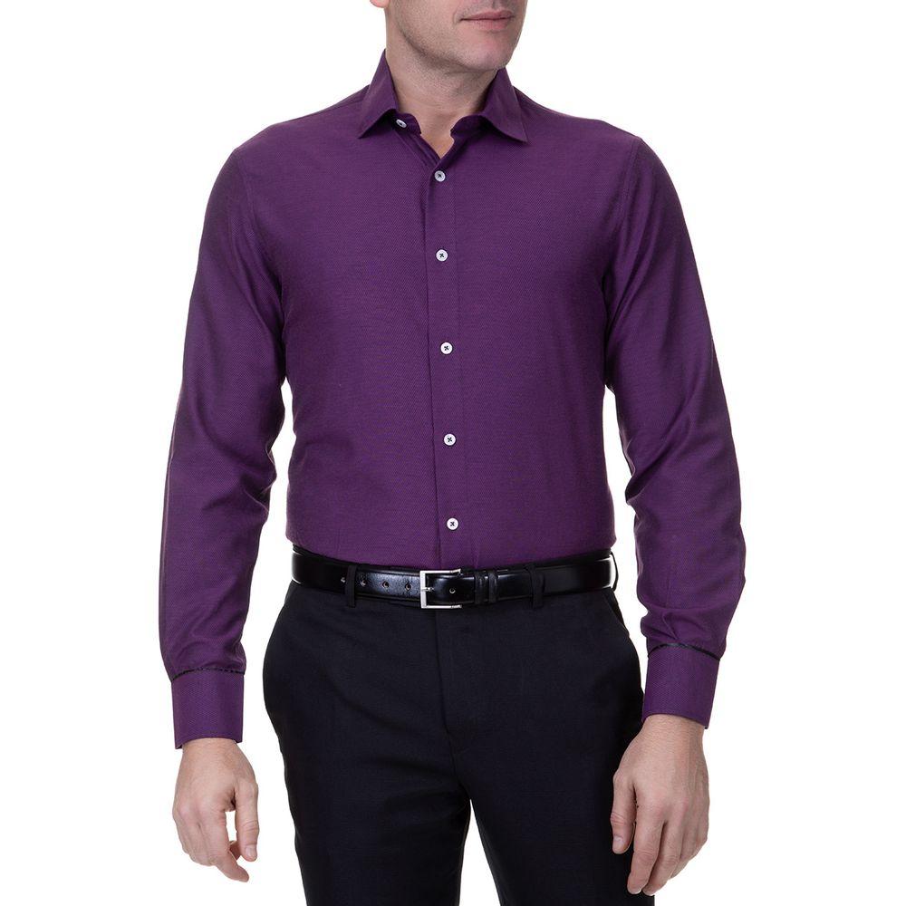 Camisaria Colombo · Roupas  Masculino  Camisa. Camisa-Social-Masculina -Manga-Longa-Slim-Roxa ... e30e05b3304