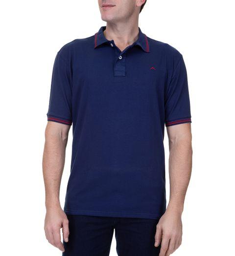 Camisa-Polo-Masculina-Upper-Com-Detalhe-Azul-Marinho-