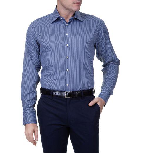 Camisa-Social-Masculina-Manga-Longa-Azul-Marinho
