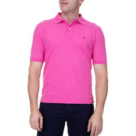 Camisa Polo Masculina Com Detalhe Rosa Bebê