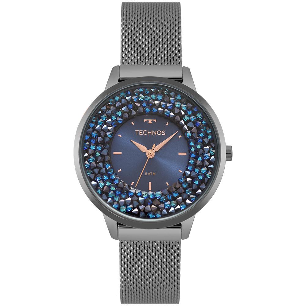 1032f2eddddc6 Relógio Technos Feminino Crystal Grafite 2035MQC 5A - Camisaria Colombo