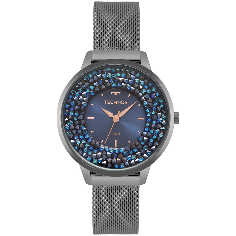 Relógio Technos Feminino Crystal Grafite 2035MQC 5A - Camisaria Colombo 0d47616005