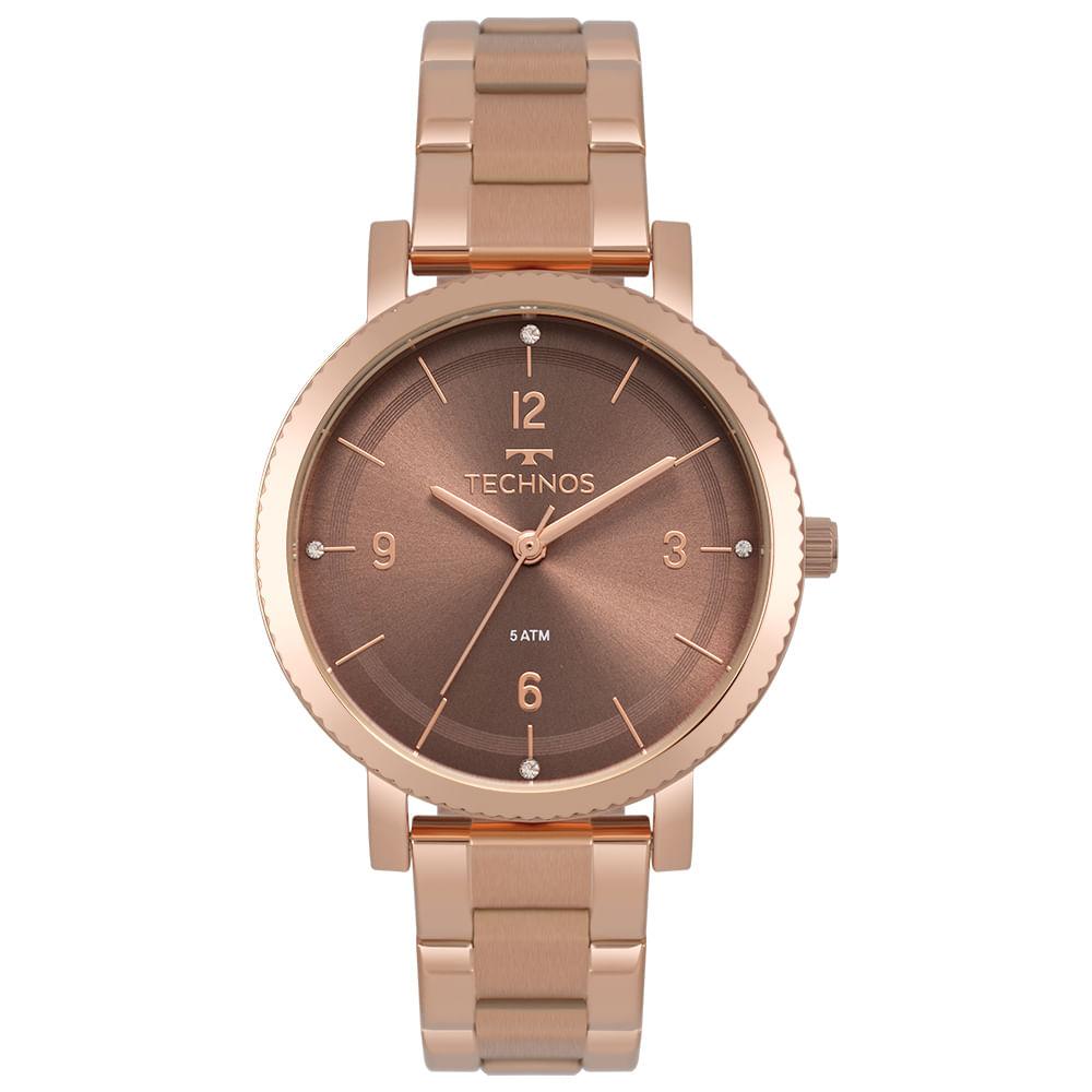 Relógio Technos Feminino Dress Rosé 2035MPT 4M - Camisaria Colombo 9d3038a622