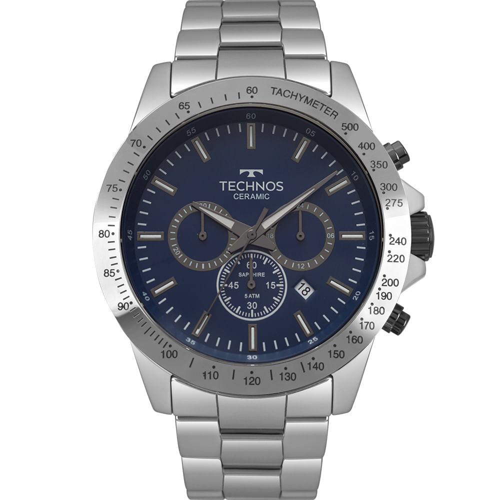 Relógio Technos Masculino Ceramic Prata JS25BT 4A - Camisaria Colombo 74c549d86e